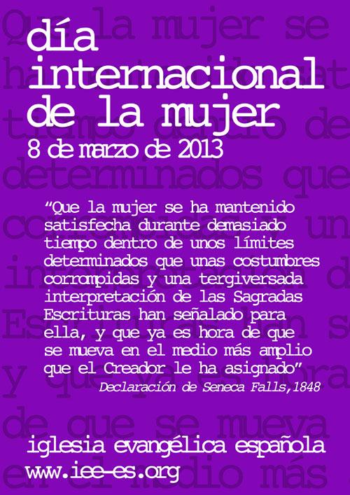 Cartel Día Internacional De La Mujer 2013 Pictures