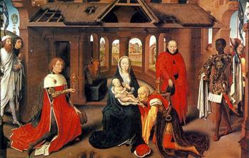 Adoración de los Reyes Magos - Hans Memling (1433-1494)