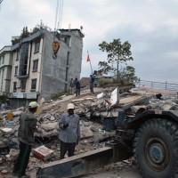 Foto: Equipo de emergencia de la FLM en Nepal