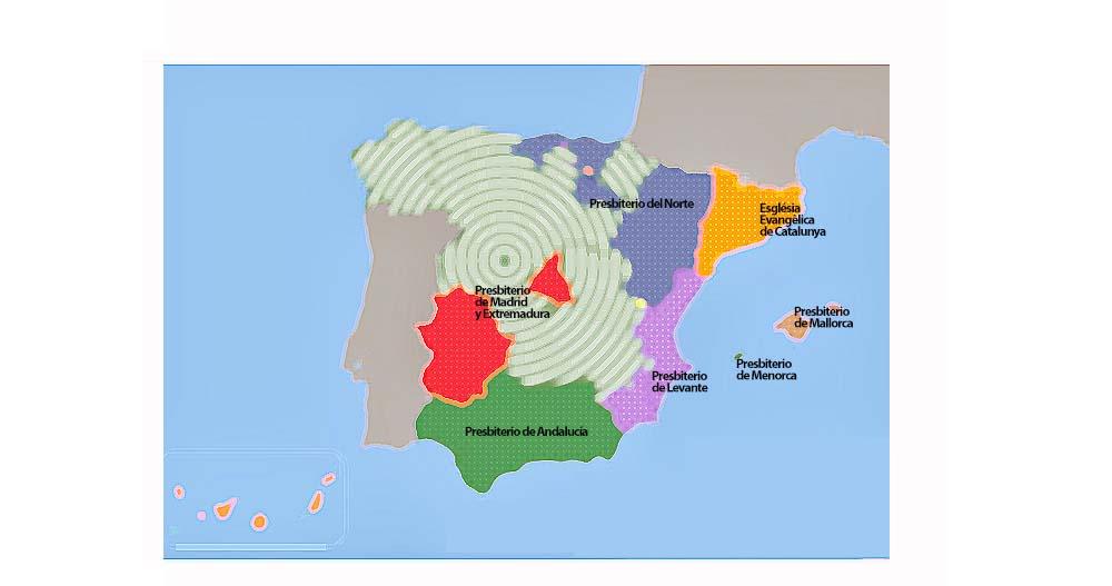 Presbiterios de la Iglesia Evangélica Española
